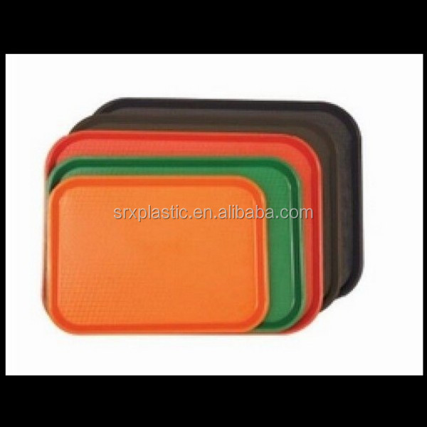 Fast Food Serving Trays Plastic Rectangular Black Brown Orange Green Red,custom plastic serving trays manufacturer