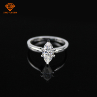 Fashion Jewelry White Gold Ring Marquise