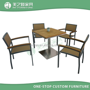 garden furniture outdoor / polywood dining table and chair / outdoor garden dining set