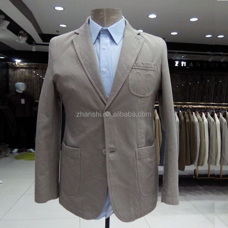 New Arrival Plus Size Outwear German Nice Sport Coats Men's Casual Blazers Beige