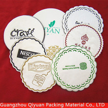Eco-Friendly Custom Printing Absorbent Kraft Pulpboard Paper Beer Coaster