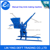 business industrial chinese eco manual interlocking clay brick making machine