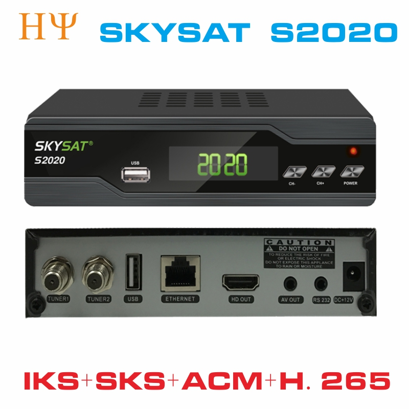 SKYSAT S2020 Twin Tuner IKS SKS ACM IPTV M3U Xtream-code H.265 Satellite Receiver most stable server for South America Europe