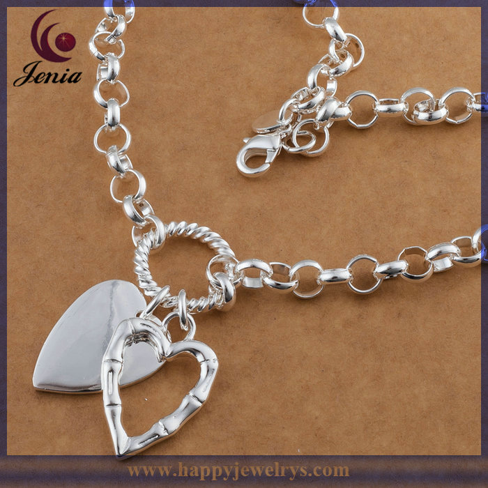 2014 Low Price Sale Fashion 925 Silver Plated Imitation Jewelry Ego Necklac (N256)