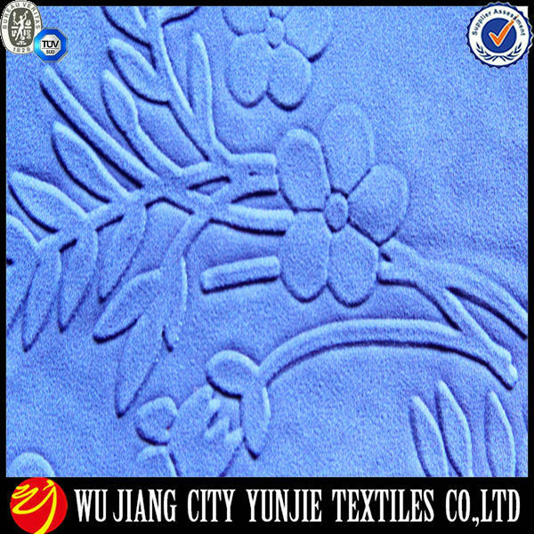 100%polyester transfer printed composited chiffon fabric with embossing