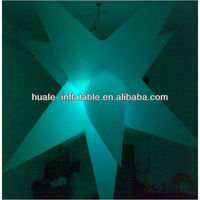 Pale green inflatable lighting star/outdoor led star light