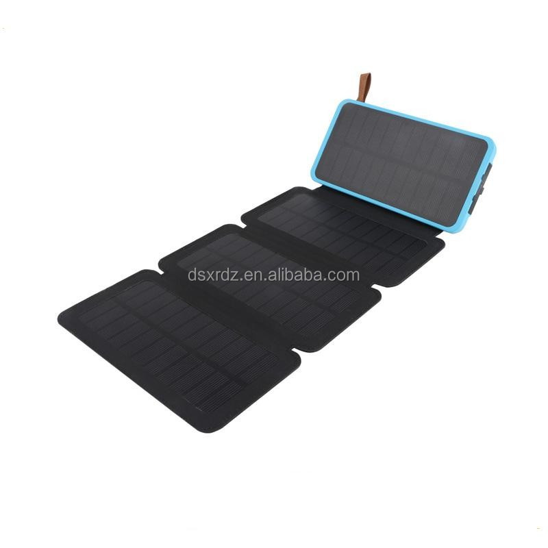 Factory supply portable solar power bank 10000mah accept paypal