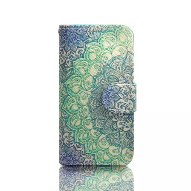 For iPhone SE 6s 6 Plus Case Mandala Pattern case Print Wallet flip Leather Cover 5s For Apple