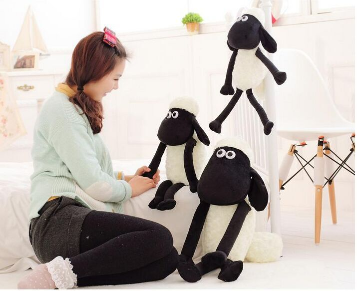 (Manufacturer) High Quality Black & White Sheep Plush Sex Doll with Long Legs, Plush Toy Cartoon Sheep, Stuffed Sleep Toy