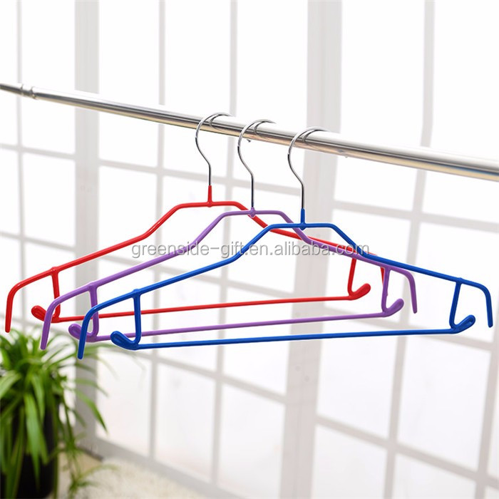 Hot sale metal+PVC coated best hangers for womens clothes