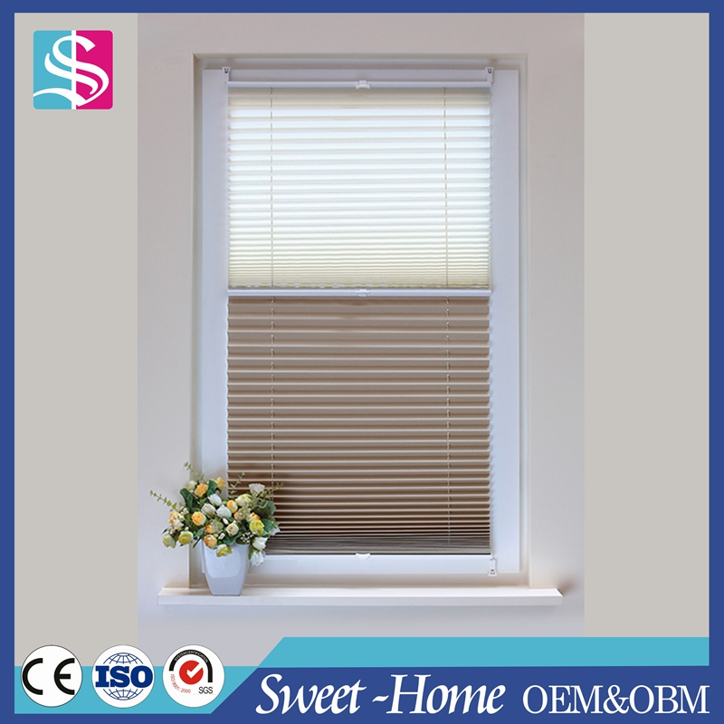 home interior double plisse blinds, cordless pleated blinds, cordless pleated shades