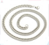 Trendy flat chunky chain silver stainless steel necklace for men