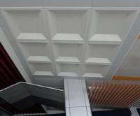 Metal square aluminum clip in ceiling for office CE AND ISO