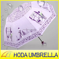 Sex beautiful girl pictures anti uv waterproof sun/rain umbrella