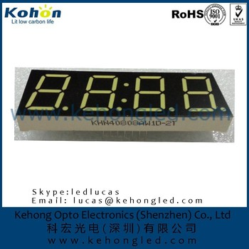 ROHS Approved High quality 4 digit 0.8inch White color 7 segment LED display