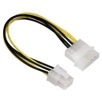 Dual Molex 4pin to 6 Pin PCI-E Power Graphics Card Adapter Cable
