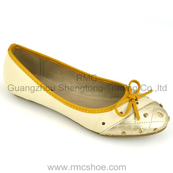 RMC flat bow simple fashion ladies dress shoes