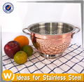 1.5 Quart Stainless Steel Fruit Colander with Copper Plated