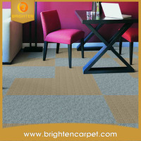 Waterproof PVC Backing Commercial Office Carpet Tile