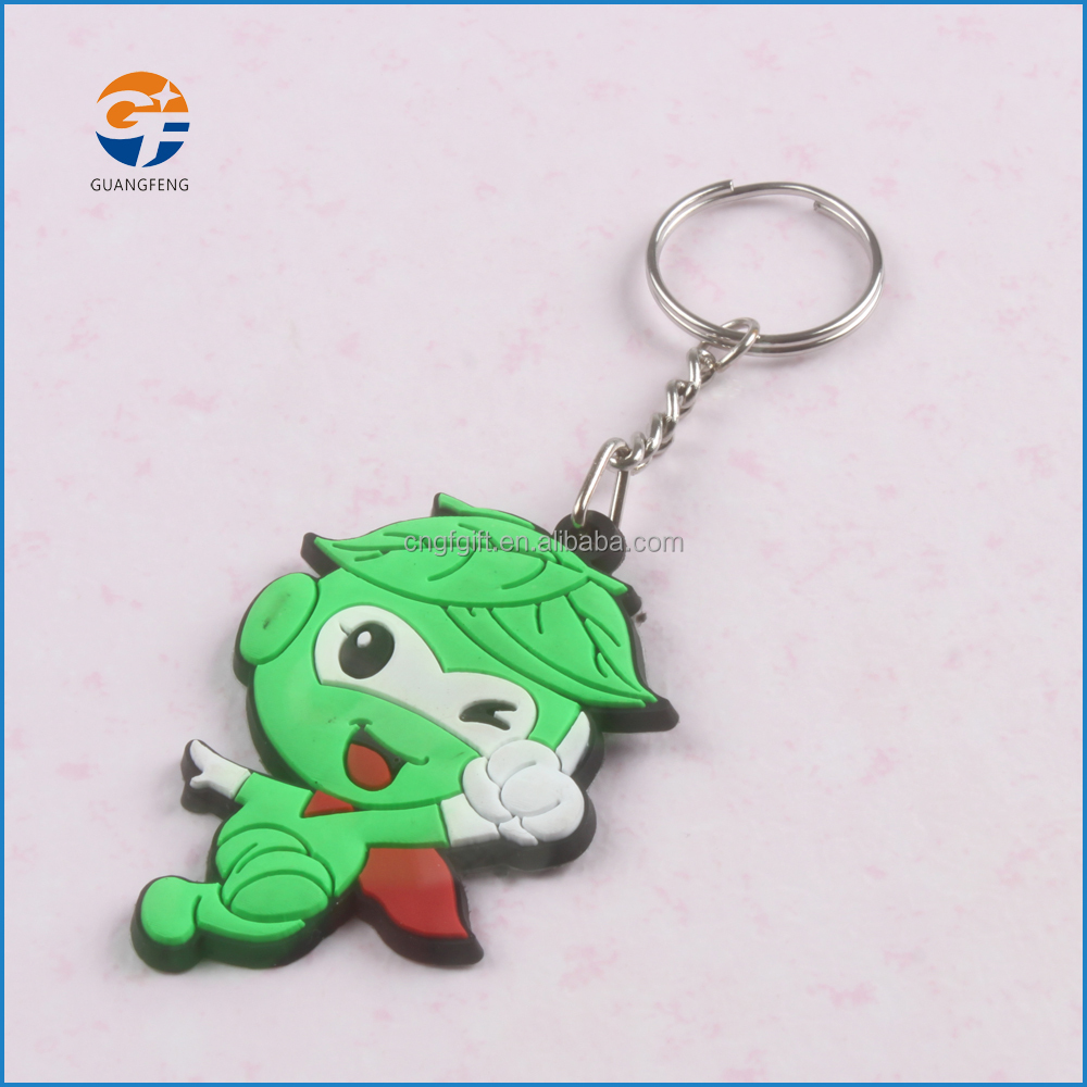 Hot selling promotional customized shaped soft pvc rubber keychain