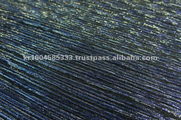 AMERICAN KNIT DOUBLE METALLIC PLEATED FABRIC