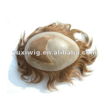 Hot sale wholesale cheap human hair piece toupee