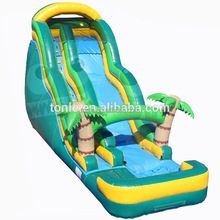 18' Tropical Palm Tree inflatable Wave Water Slide