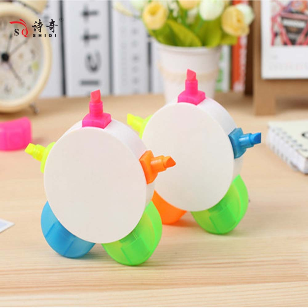 flower shaped 5 colors Highlighter Pen for little kid China factory