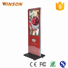 Floor stand indoor advertising digital signage for shopping mall display