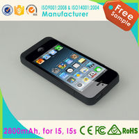 Factory price low MOQ paypal acceptable for iphone 5 power case 2800mah
