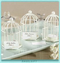 Wedding Decoration Spring Song White Birdcage Place Card Candle Holder