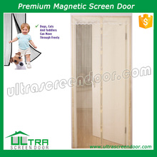 Reinforced edges magic mesh accordion screen door