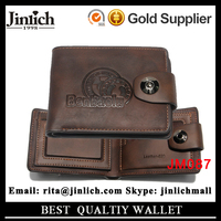 New Hot 2015 Men Embossed Leather Casual Vintage Retro Wallet