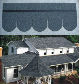 12 Regular Colors Double Style Fiberglass Asphalt Roofing Shingles / Building Materials For Construction