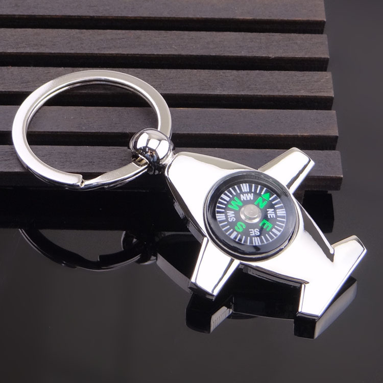 Hot sale custom blank outdoor sports key ring compass key chain with logo