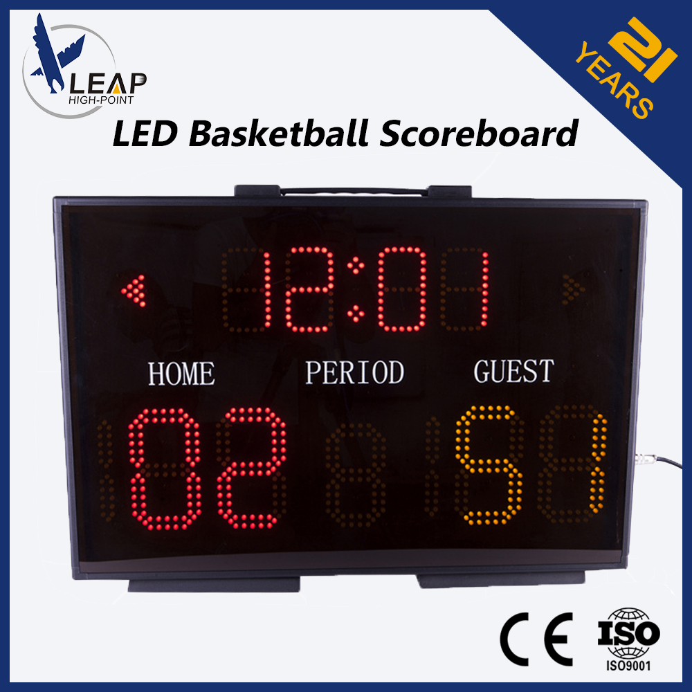 OEM Single-sided Basketball Scoreboard Highlight LED digital wire control
