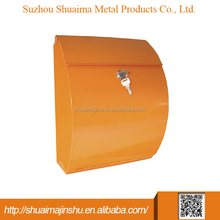 hot sale 300*140*340 Metal wall mounted stainless steel post mailbox