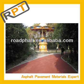 colored asphalt mixture for garden