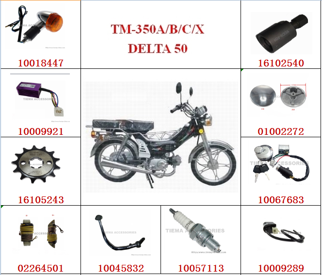 TMMP DELTA50 MOTORCYCLE SPARE PARTS,HIGH QUALITY
