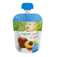 Bellamy's Organic Organic Peach & Apple Ready To Serve Baby Food (No Preservatives)