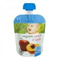 Bellamy's Organic Organic Peach & Apple Ready To Serve Baby Food (No Preservatives)