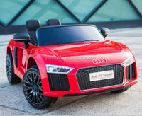 Licenced Audi R8 B with 2 seats double doors open function for kids ride on plastic toys cars