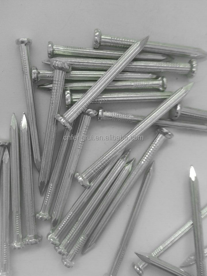 Galvanized concrete nails ,twisted SHANK with Flat Head
