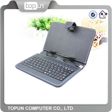 Leather Keyboard Case for 7 inch Tablet PC with Micro Cable