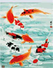 Best wish of chinese saying fish every year diy digital painting by number