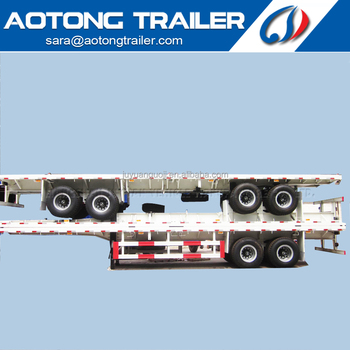 2 axles 40 foot flatbed semi trailer container trailer for sale