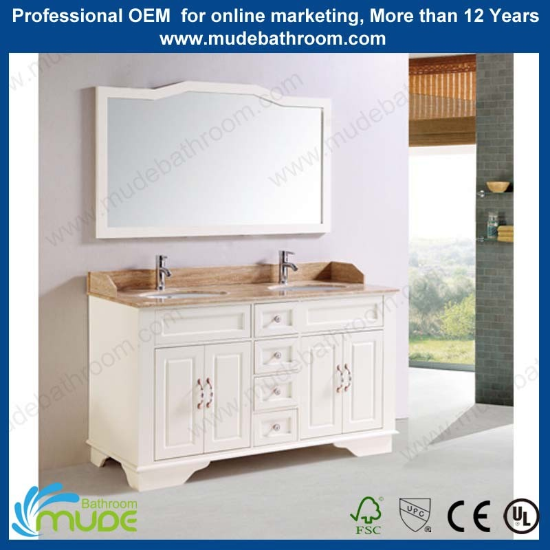Modern style Free Standing MDF Solid Wood Bathroom Cabinet