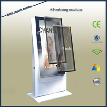 2016 latest research lcd advertising display Information kiosk/47 inch advertising video large display/metal enclosure ad player