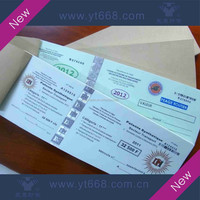 Ticket for meal anti-counterfeiting printing