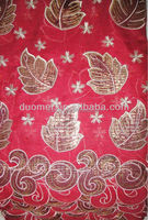 P2086 2015 hot selling design african french lace fabrics with wonderful leather